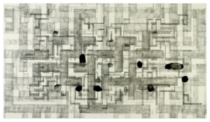 Graphite and Floor Wax on Mylar, 25x40 inches