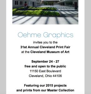 Cleveland Print Fair